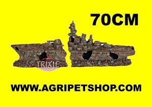 Arredamento acquario relitto di nave da guerra da 70cm for Arredamento acquario
