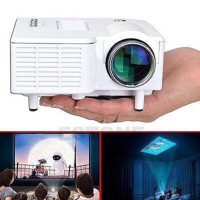 1080P Mini HD Multimedia Projector LED Home Cinema Theater AV TV VGA HDMI USB SD