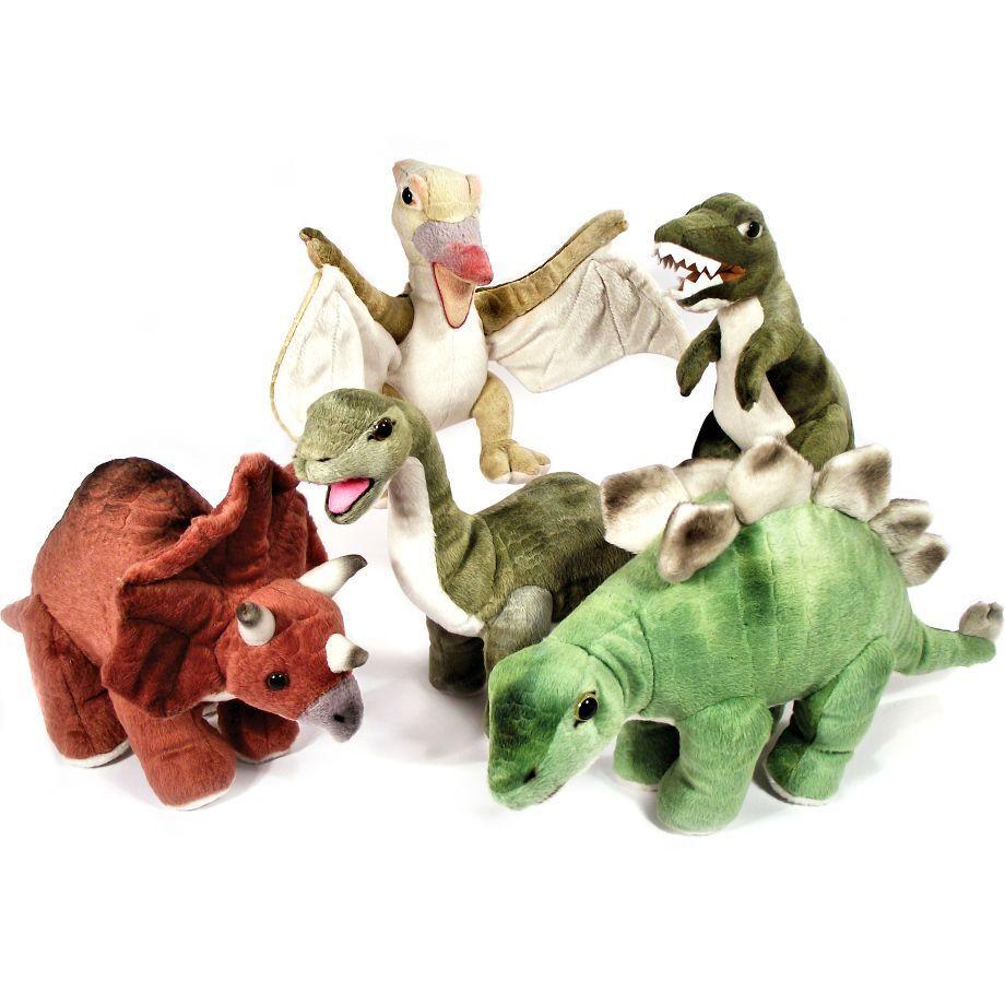 Set of 5 Dinosaur 21cm Soft Toys - Soft Toy Dinosaurs - Birthday Gift Idea