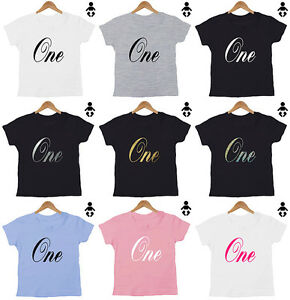 Image Is Loading One 1 Birthday T Shirt Personalised Number 2