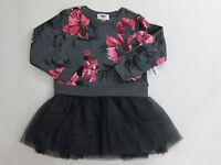 Old Navy Toddler Girls Size 4 4t Gray Flower Tutu Tulle Dress