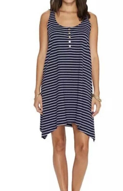6244f82e46e NWT Lilly Pulitzer True Palm Jennalyn Dress Sz L Navy Stripe ...