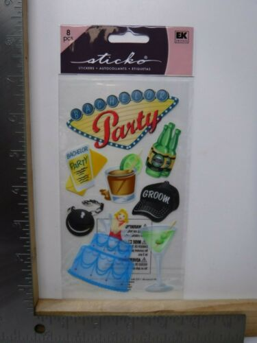 EK SUCCESS STICKO BACHELOR PARTY CLASSIC STICKERS NEW A18574