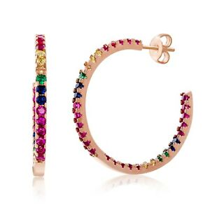 18K-Rose-Gold-Multi-Stone-Rainbow-Hoop-Earring-made-with-Swarovski-Crystals-1-1-034