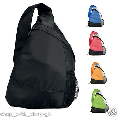 LIGHTWEIGHT SPORTS MONO STRAP RUCKSACK CARRY BAG - FOR SWIMMING GYM SCHOOL