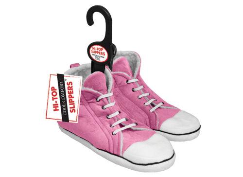 Retro Old School Kids Hi-Top Warm Slippers Pink Medium