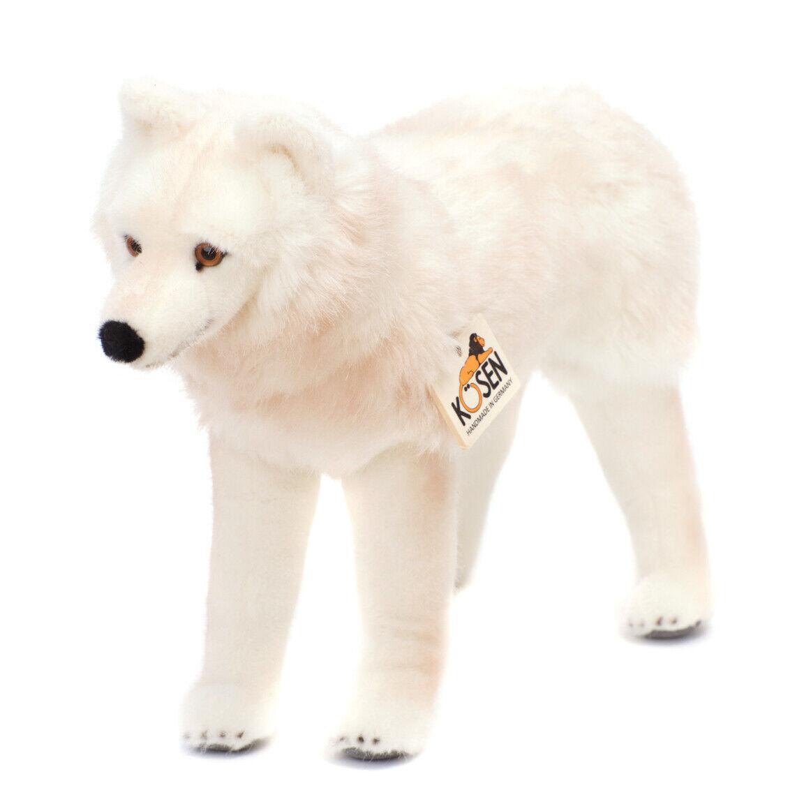 Arctic Polar Wolf collectable plush soft toy - Kosen   Kösen - 6060 - 43cm