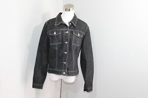 Vintage Denim Sort Casual Full Jacket 90s Xl Guess Bomuld Button Womens Jean wCnqHwfXr