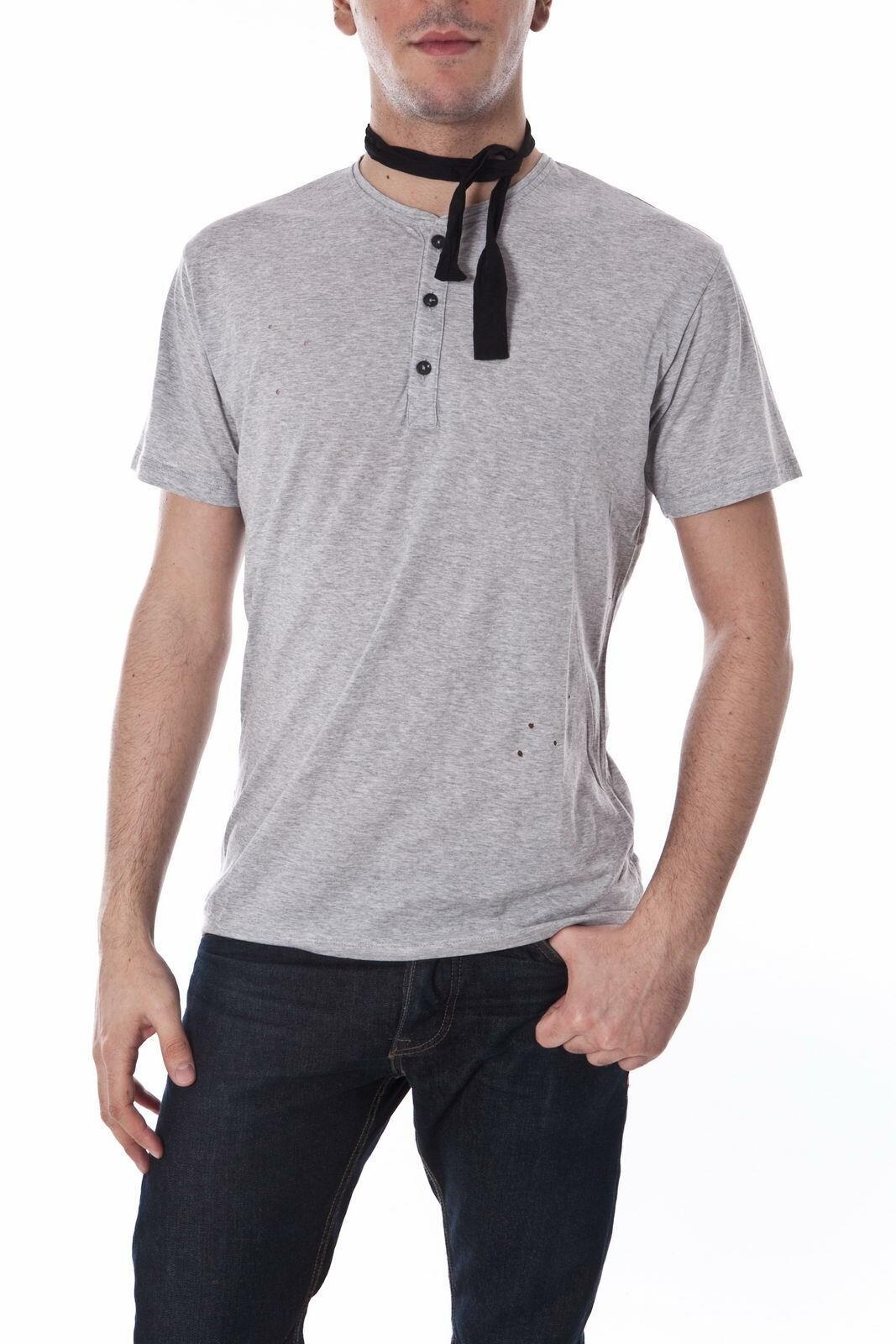 Daniele Alessandrini Tank Top T shirt Herren Grau M4597E5033302 11 Gr. L ANGEBOT