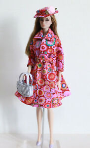 Doll-dress-coat-jacket-outfit-hat-bag-Barbie-Fashion-Royalty-Poppy-Parker