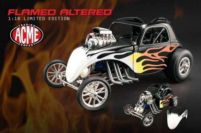 Gmp Fiat Hemi Fuel Altered Acem Negro Flamed 1/996