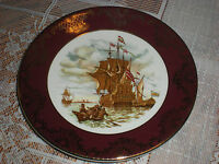 """Vintage Weatherby Royal Falcon Gift Ware 6"""" Collecter's Plate Hallmarked"""