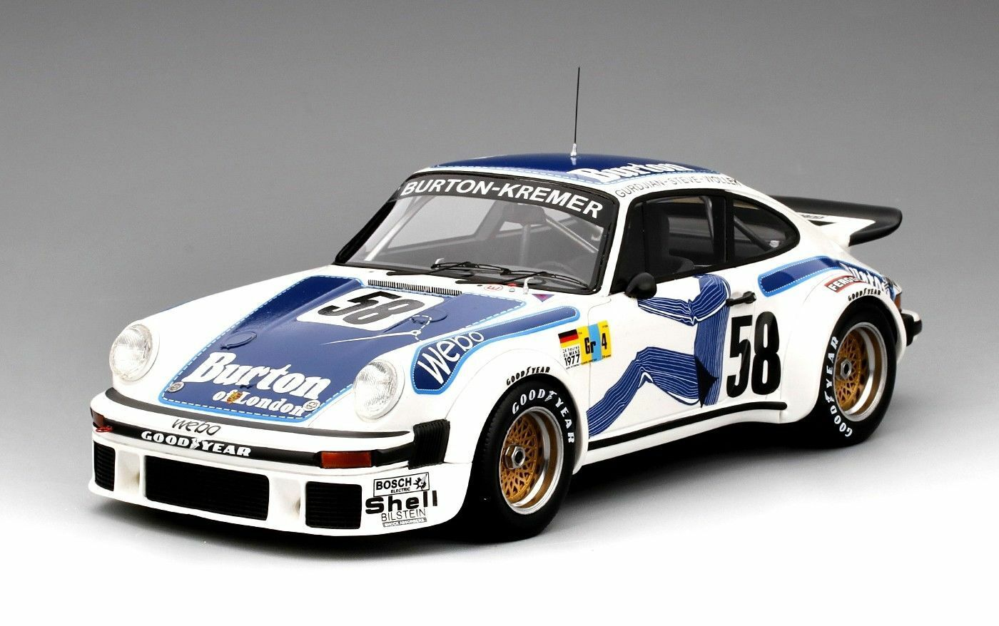 Top Speed 1977 Porsche 934  58 Kremer Class Win.Le Mans TS0057 1:18 Nuovo Item