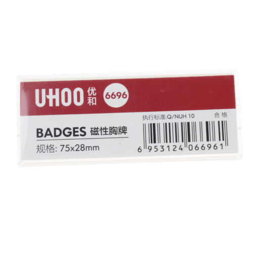ID Badge Holder with Magnet Waterproof Simple Name Badge Name Tag