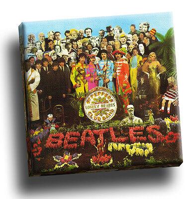 The Beatles Print Sgt Peppers Classic Album Cover Canvas 40x40x2.5cm