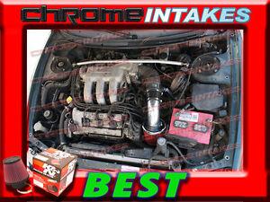 All BLACK COATED Cold Air Intake Kit For 93-97 Ford Probe Mazda MX6 626 2.5 V6