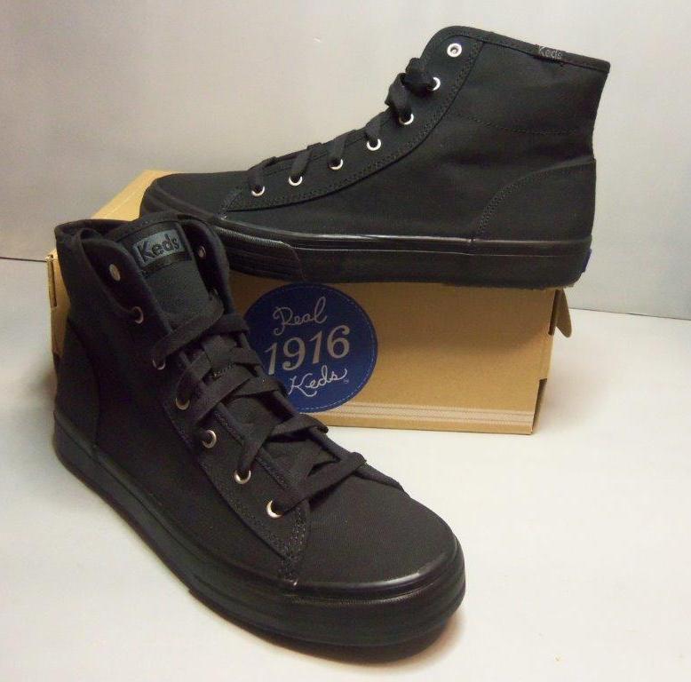 Keds Mujer Negro Lona Lona Lona Doble Up Hi WF51956 Informal Zapatos Tallas Nuevo en Caja  tiempo libre