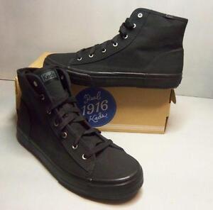 a48be7d871f27 Keds Women s Black Canvas Double Up Hi WF51956 Casual Shoes NIB ...