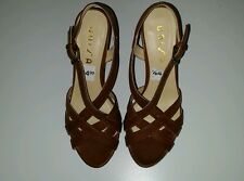 New Unisa Unalason J Womens Wedge Heels Brown Sandal Size 6 1/2 M (B)