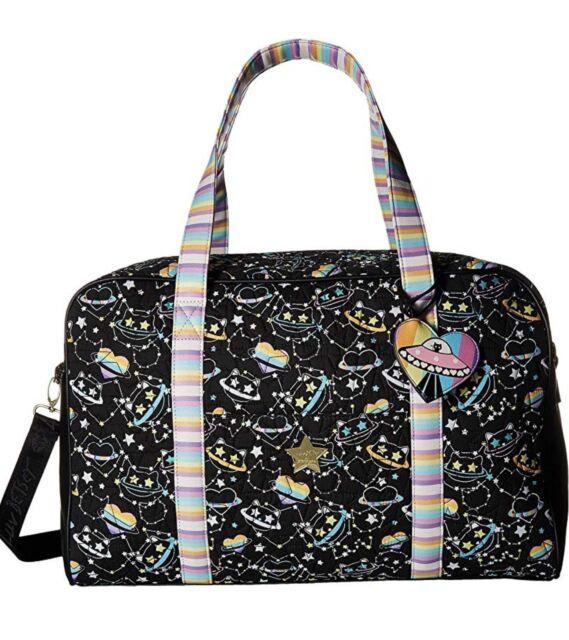 NWT Luv Betsey JOHNSON  Weekender OVERNIGHTER  TRAVEL Black/Cruz in  Duffle Bag