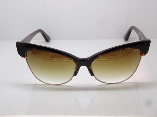 003893090d4f2 NEW DITA TEMPTATION 22029-B Tortoise 12k Gold Cat-Eye Mirror 61mm Sunglasses
