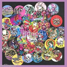 100 Precut assorted Ed Hardy inspired Tattoo BOTTLE CAP IMAGES Variety
