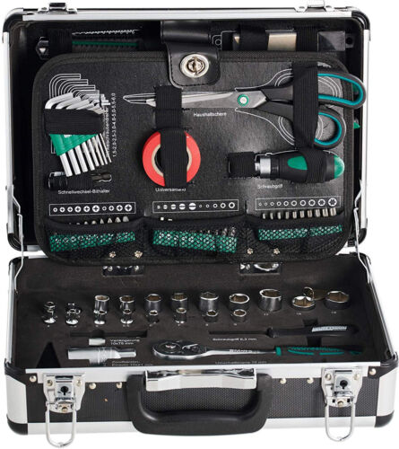 Brothers Mannesmann 29067 Green Line Aluminium Tool Case Set 90 pieces