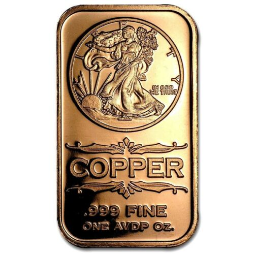 3 JARS 24K GOLD FLAKES FREE SHIP 1 OUNCE .999 COPPER WALKING LIBERTY BARS 2