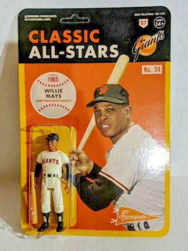 Super7 ReAction Classic All-Stars MLB Baseball WILLIE MAYS 3.75 Figure