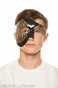 Men/'s Vintage Phantom Of The Opera Venetian Masquerade Mask Half Face BRAND NEW!