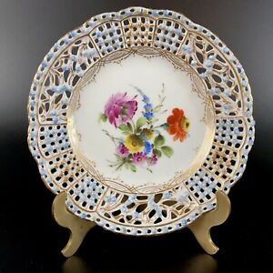 Lovely-Rare-Antique-Carl-Thieme-Dresden-Small-Reticulated-Pierced-Plate