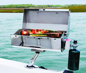 Ebay Boats Florida >> Portable Boat Gas Grill + Mount Accessories Marine BBQ Sailboat Barbecue Camping | eBay