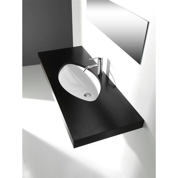 Lavandino Lavabo Bagno sottopiano Design Laguna in Ceramica bianco -varie misure