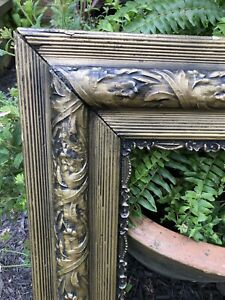 Large-Antique-Victorian-Gilded-Gesso-Wood-Picture-Frame-Art-Oil-Painting-31-X-26