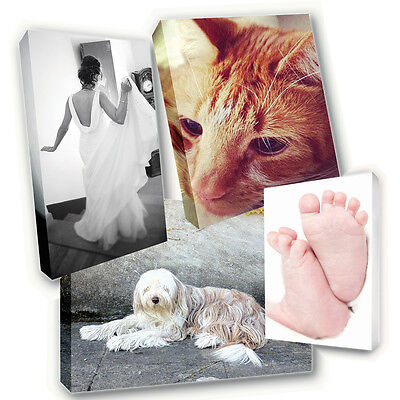 "Your Photo Image Printed Box Framed 12/"" x 18/"" Canvas Print Personalised A3+"