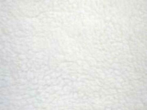 WHITE SHERPA  Fleece Fabric Material 60 inch Width FAUX SHEEPSKIN