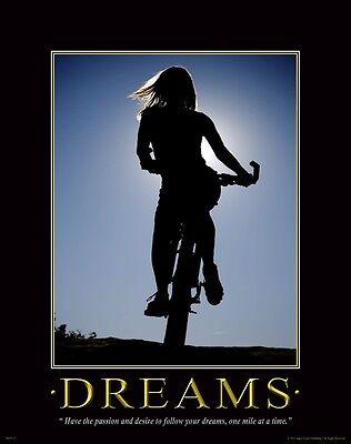 Bicycle Motivational Poster Art Print Mountain Road Bike Helmet Shorts MVP127