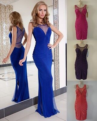 Long Ladies Women Wedding Cocktail Formal Party Evening Prom Knee Maxi Dress