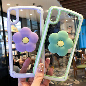 For-iPhone-11-Pro-XS-Max-XR-7-8-Cute-Flowers-Stand-Holder-Shockproof-phone-Case