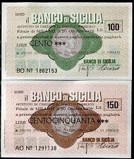 BANCO DI SICILIA 20/10/1976 UNIONE COMM.TURISMO SONDRIO L.100+150 FDS