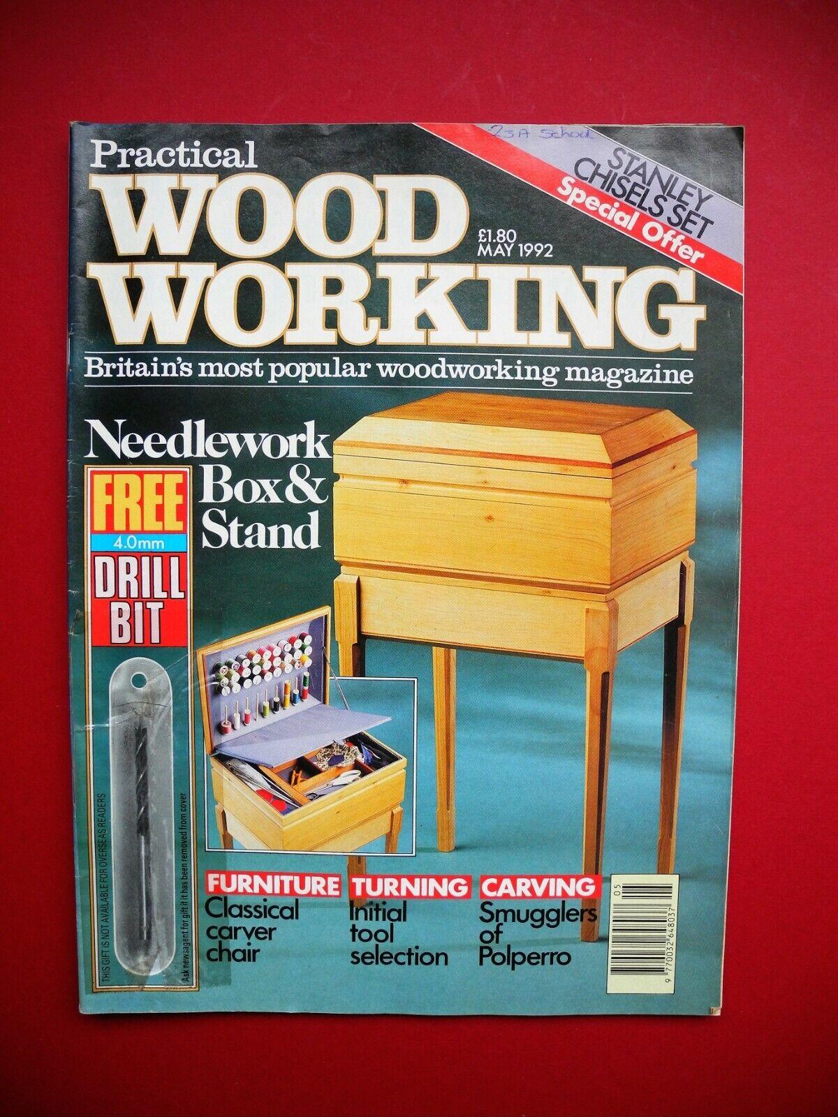 Vintage Revista De Carpintería Práctico-May 1992