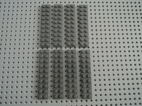 Lego 8 x Platte Bauplatte flach 3832 neu dunkelgrau  2x10