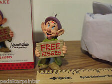 Hallmark 2013 Free Kisses Dopey Snow White Disney Ornament Limited Edition