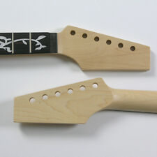 Floyd Nut Half Paddle Maple/Rose 22 Fret Vine Inlay Guitar Neck NK7
