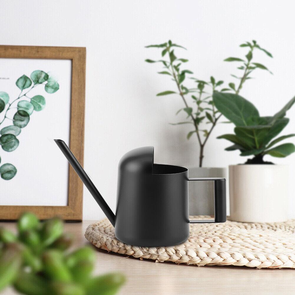 300ml Black Stainless Steel Watering Can Indoor Outdoor Plants Long Spout Wateri