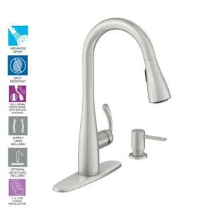 Image Is Loading Moen Essie Pull Down Sprayer Kitchen Faucet In