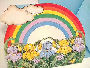 Vintage american greetings blank note card rainbows iris flowers image is loading vintage american greetings blank note card rainbows iris m4hsunfo