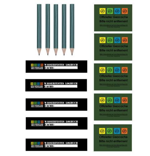 Aufkleber Geocaching Wartung Logbuch Petl Petling Refill Set-Logbücher,Stifte u