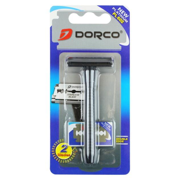 Dorco PL602 1 Handle + 2 Double Edge Blades Men (1 pack)