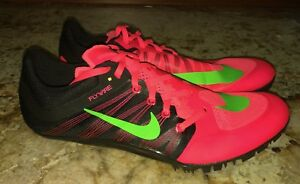 NIKE JA Fly 2 Hyper Punch Black Lime Track Sprint Spikes Shoes New Mens 10.5 15